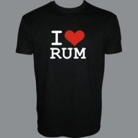 Tričko I LOVE RUM