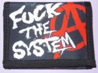 Peněženka FUCK THE SYSTEM áčko