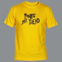 Tričko PUNK´S NOT DEAD clas yellow