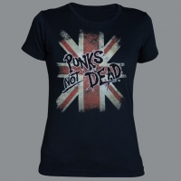 Tričko PUNK´S NOT DEAD clas flag dámské